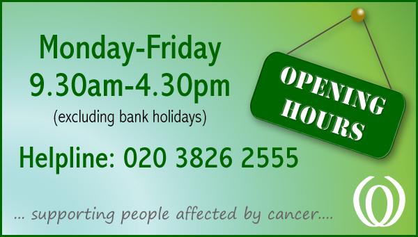 Lynda Jackson Macmillan Centre opening hours