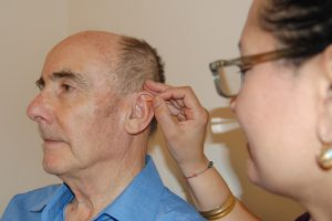 Ear acupuncture - one of the complementary therapies offered at the LJMC